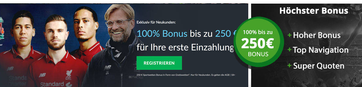 BetVictor Wettbonus 250 Euro