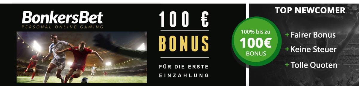 BonkersBet Wettbonus 100 Euro