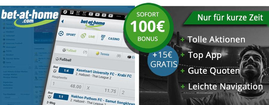 bet-at-home 15 Euro Gutschein